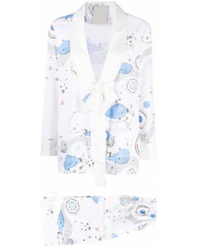 Z rękawami niebieski spodni garnitur z klapami Seen Users