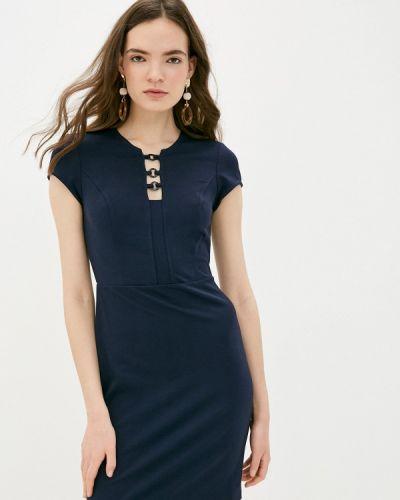 Синее платье-футляр Colcci