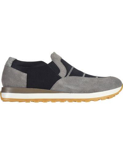 Кожаные кроссовки - серые Peserico