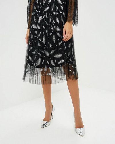 Плиссированная юбка черная Paccio