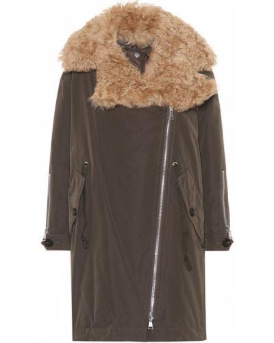 Пальто зеленое био пух Moncler