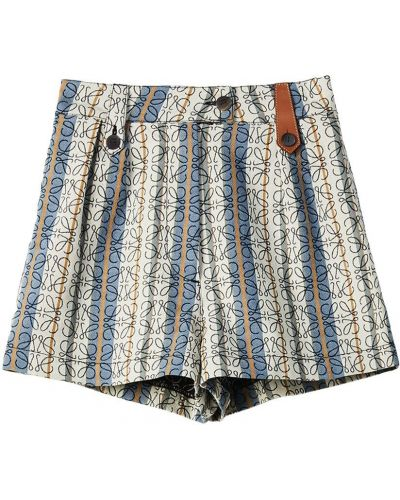 Хлопковые шорты с карманами в полоску Loewe