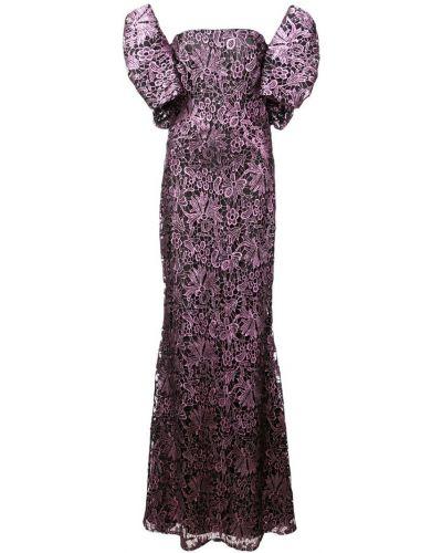 Платье мини в цветочный принт - черное Zac Zac Posen