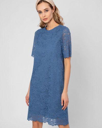 Прямое платье - синее Pompa