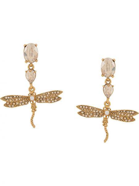 Kolczyki pierścionki kolczyki ze sztyftem z perłami Oscar De La Renta