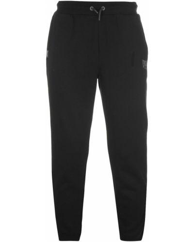 Czarne spodnie dresowe bawełniane Everlast