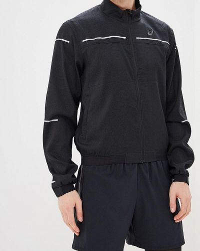 Куртка осенняя черная легкая Asics