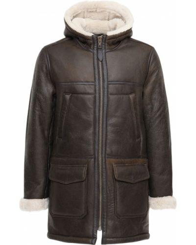 Brązowy płaszcz Schott