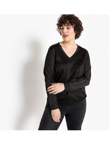 Пуловер с V-образным вырезом шерстяной Castaluna