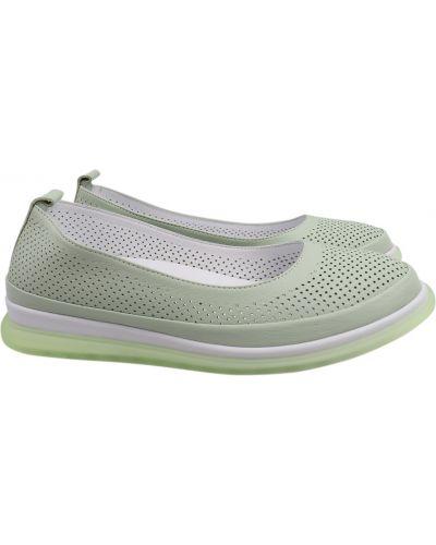 Кожаные туфли - зеленые Mario Muzi