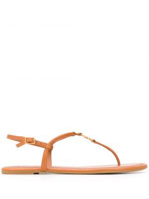Кожаные сандалии - коричневые Tory Burch