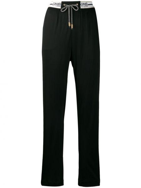 Спортивные черные спортивные брюки свободного кроя из вискозы Cavalli Class