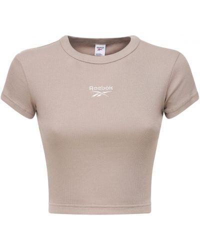 Хлопковая футболка - серая Reebok Classics