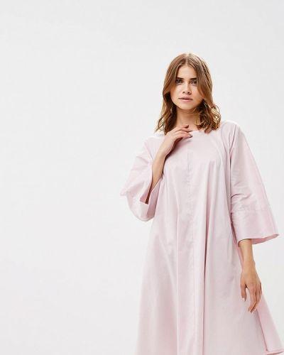 Прямое розовое платье Pepen