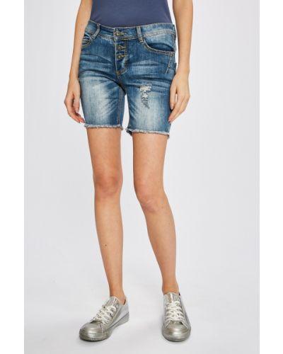 Джинсовые шорты с карманами на пуговицах Sublevel