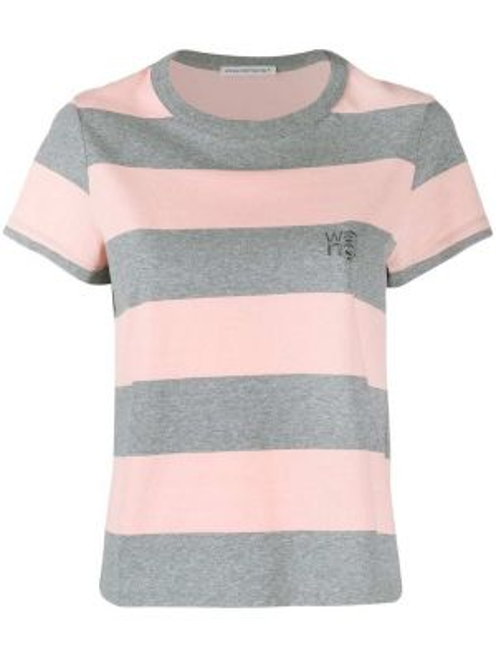 Koszula krótkie rękawy z nadrukiem w paski Alexander Wang