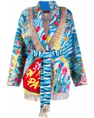 Kimono jedwab z kołnierzem Alanui