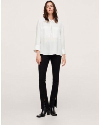 Белая рубашка с карманами Mango