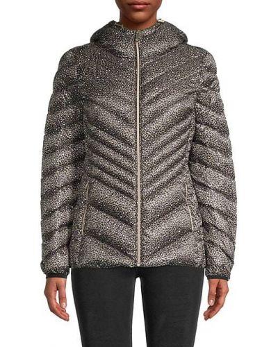 Пуховая длинная куртка с капюшоном на молнии Michael Michael Kors