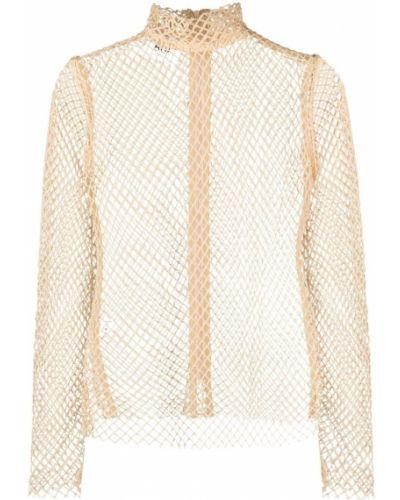 Bluzka body z długimi rękawami z siateczką bawełniana Atu Body Couture