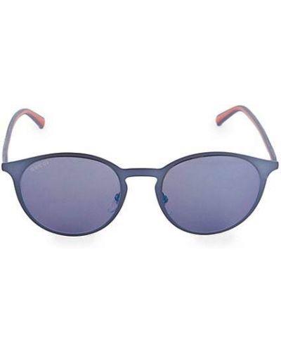 Фиолетовые солнцезащитные очки круглые металлические Gucci