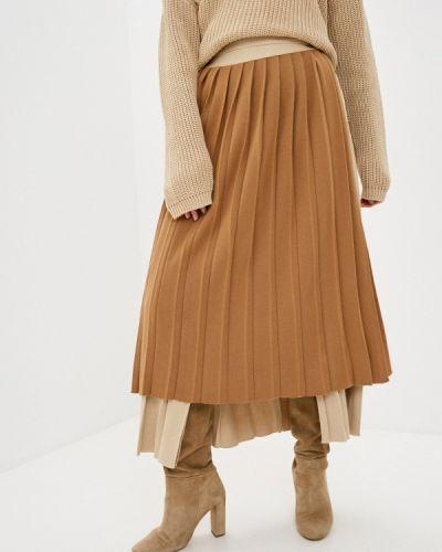 Бежевая плиссированная юбка Katya Erokhina