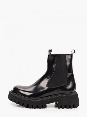 Черные кожаные ботинки Lamania