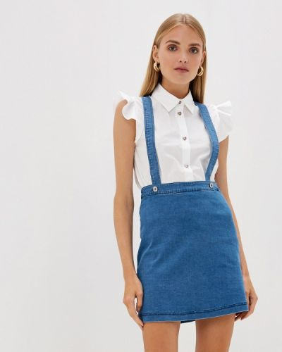 Джинсовое платье осеннее платье-сарафан Blugirl Folies