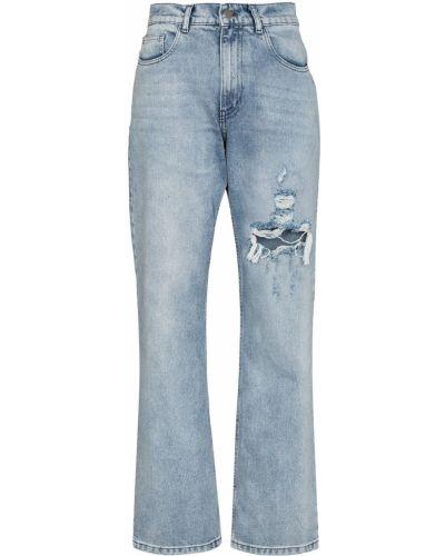 Niebieskie klasyczne mom jeans Danielle Guizio