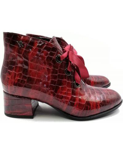 Кожаные ботинки - красные Sala
