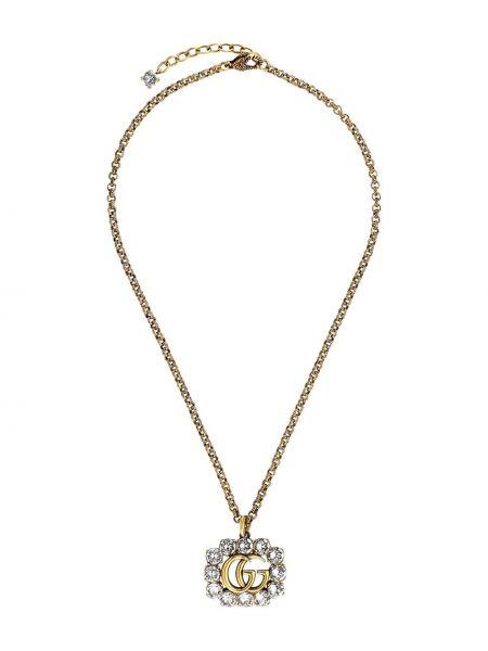 Naszyjnik szary ze złota Gucci