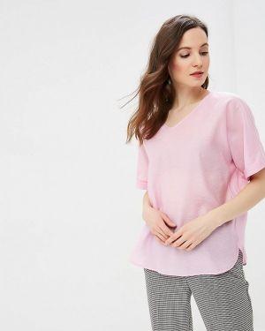 Блузка с коротким рукавом розовая весенний Baon