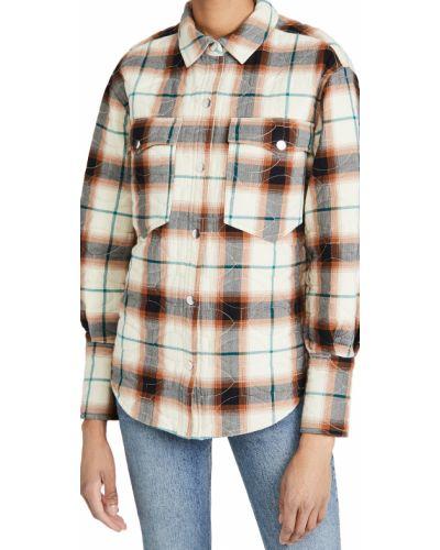 Хлопковая рубашка с длинными рукавами в клетку Scotch & Soda