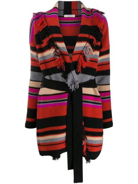 Красное кашемировое пальто с запахом Dorothee Schumacher