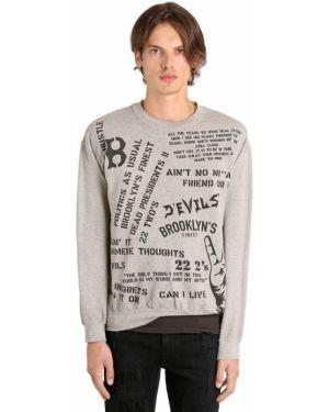 Prążkowana bluza bawełniana oversize Madeworn X Jay Z