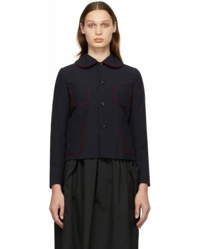 Бордовая куртка с накладными карманами Comme Des Garçons Girl