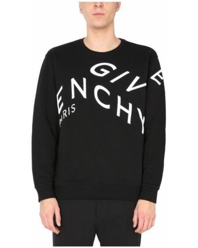 Prążkowana bluza z haftem bawełniana Givenchy