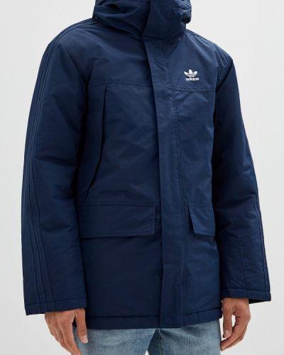 Утепленная куртка осенняя синяя Adidas Originals
