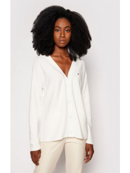 Biały sweter oversize Tommy Hilfiger