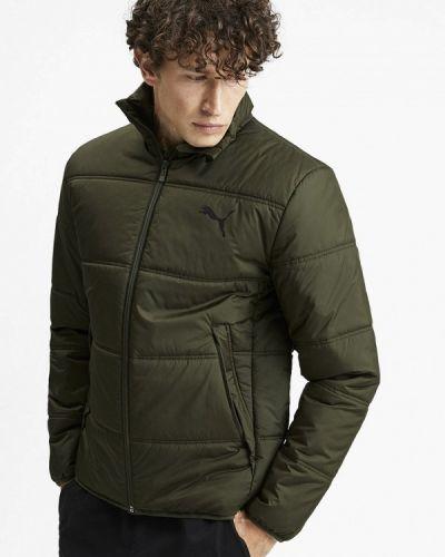 Утепленная куртка осенняя зеленая Puma