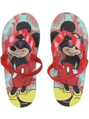 Klapki na basen - turkusowe Mickey