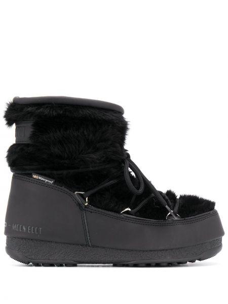 Buty na obcasie na pięcie czarne Moon Boot