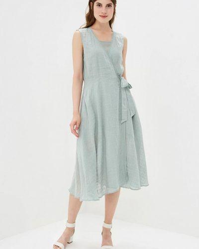 Платье осеннее зеленый Hassfashion