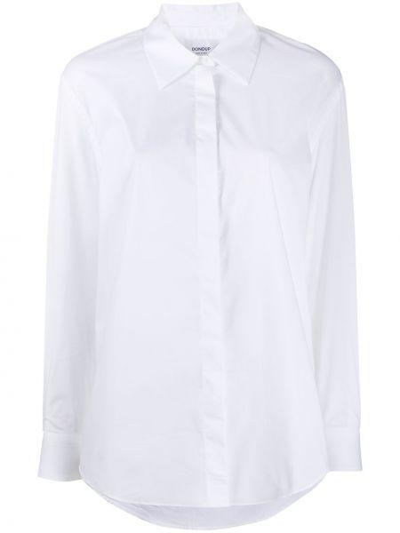 Белая классическая рубашка с воротником на пуговицах с длинными рукавами Dondup