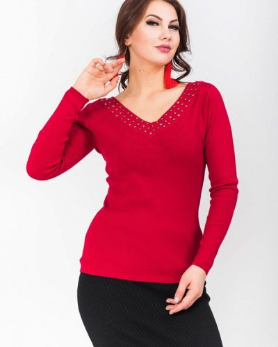 Красный пуловер Olko