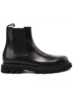 Черные ботинки на шнуровке Franceschetti