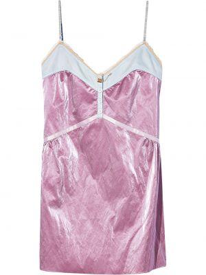 Платье с V-образным вырезом - розовое Marc Jacobs