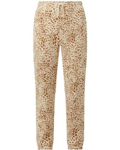 Spodnie dresowe bawełniane - beżowe Rich & Royal