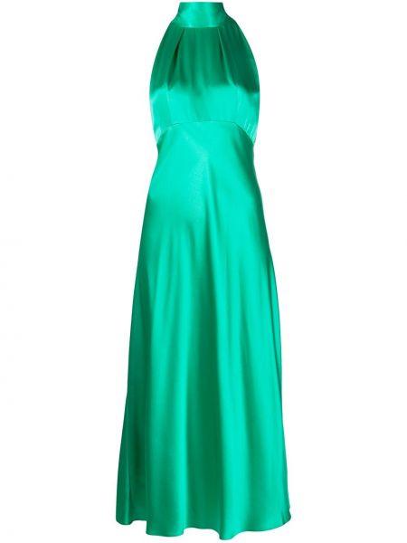 Платье зеленый с рукавами Saloni