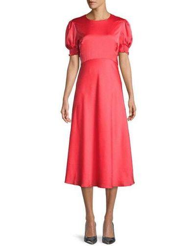 Розовое платье миди с оборками с манжетами Ted Baker London